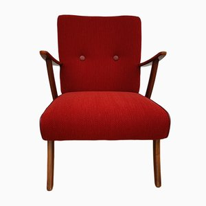 Scandinavian Modern Danish Beech and Fabric Armchair, 1950s