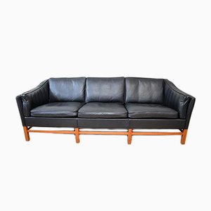 Scandinavian Modern Danish Leather and Teak Sofa by Georg Thams for Grant Möbelfabrik, 1970s