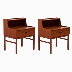 Teak Nightstands by Sven Engström & Gunnar Myrstrand, 1960s, Set of 2
