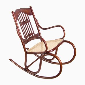 Antique Bentwood Rocking Chair by Michael Thonet for Jacob & Josef Kohn