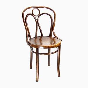 Chaise d'Appoint Antique en Hêtre et Bois Courbé par Michael Thonet pour Jacob & Josef Kohn