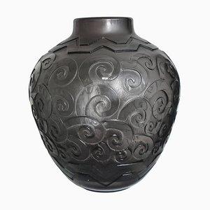 Große Art Deco Vase von Daum, 1920er