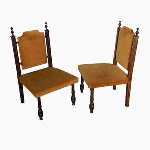 Italian Beech Lounge Chairs, 1950s, Set of 2