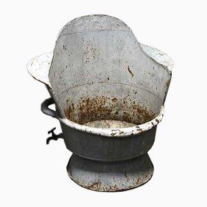 Bañera o macetero antiguo de zinc