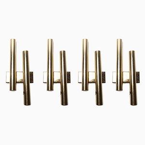 Mid-Century Brass Sconces, 1960s, Set of 4