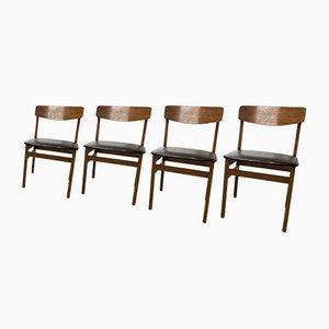 Moderne Esszimmerstühle aus Teak im skandinavischen Design von Drevounia, 1960er, 4er Set