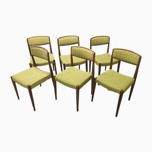 Moderne skandinavische Esszimmerstühle aus Teak, 1960er, 6er Set