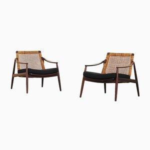 Deutsche Sessel mit Gestell aus Teak von Hartmut Lohmeyer für Wilkhahn, 1950er, 2er Set