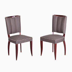 Art Deco French Mahogany Dining Chairs by Jules Leleu, 1920s, Set of 6