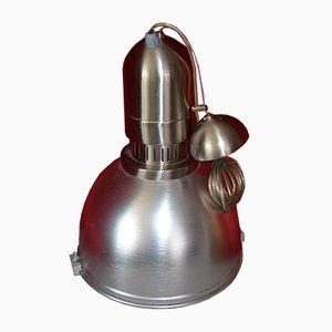 Lámpara de techo italiana industrial de aluminio y vidrio de Biffi Luce, años 90