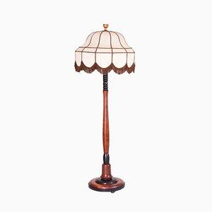 Art Deco Vintage Stehlampe aus Eiche, 1920er
