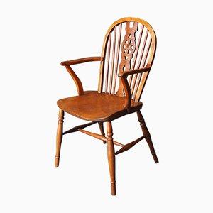 Chaise de Salle à Manger Rustique Antique en Orme