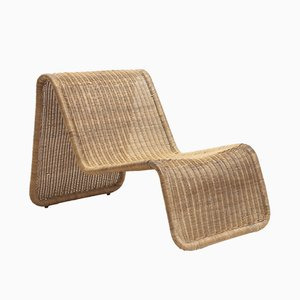 Rattan P3 Lounge Chair by Tito Agnoli for Pierantonio Bonacina, 1960s