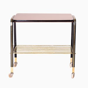 Mid-Century Art Deco French Mahogany Trolley, 1950s