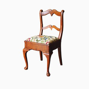 19th Century Oak & Tapestry Chair
