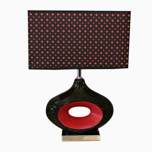 Vintage Ceramic & Fabric Table Lamp, 1970s