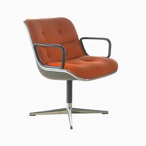 Sedia da scrivania di Charles Pollock per Knoll Inc, anni '60