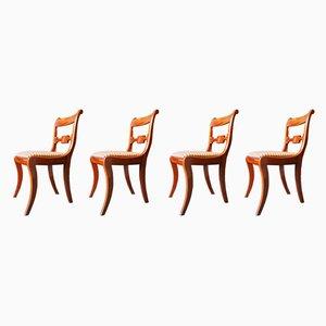 Chaises de Salle à Manger Regency Antiques en Acajou, Set de 4