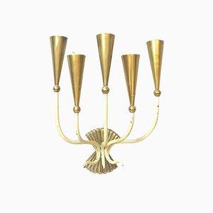 Mid-Century Italian Brass Sconce, 1950s