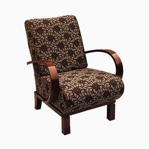 Art Deco Sessel mit Stoffbezug & lackiertem Gestell aus Palisander, 1920er, 2er Set