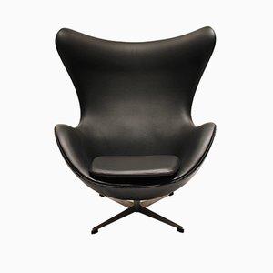 Egg Chair nr. 3316 in pelle di Arne Jacobsen per Fritz Hansen, anni '60
