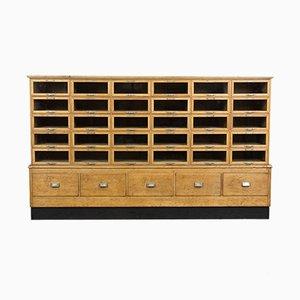 Vintage Wooden Haberdashery Cabinet, 1930s