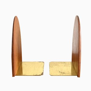 Vintage Scandinavian Teak Bookends, 1960s, Set of 2