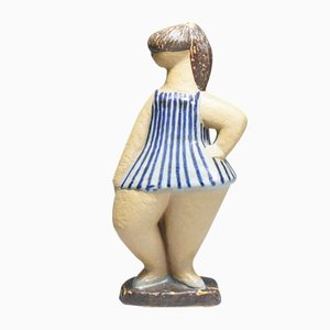Figura de cerámica Dora de Lisa Larson para Gustavsberg, años 50