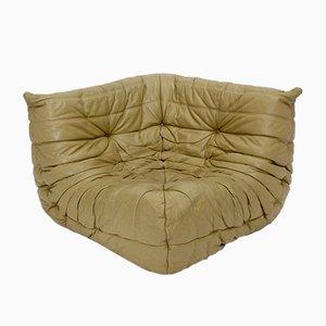 Canapé Vintage en Cuir Aniline par Michel Ducaroy pour Ligne Roset, France