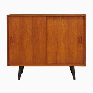 Mueble danés vintage de teca y chapa, años 70