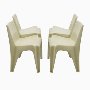Plastic BA 1171 Chairs by Helmut Bätzner for Menzolit Werke, 1960s, Set of 4