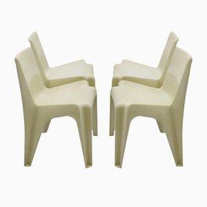 Plastic BA 1171 Chairs by Helmut Bätzner for Menzolit Werke, 1960s, Set of 4