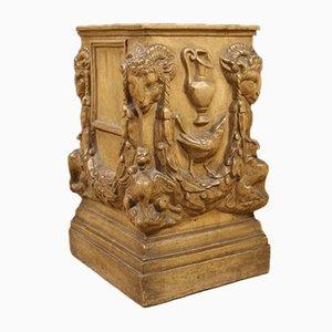 Vintage Italian Terracotta Louis XVI Style Column, 1960s