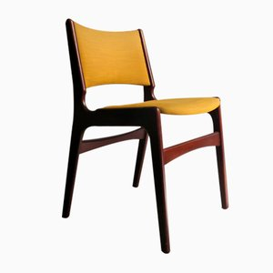 Mid-Century Danish Fabric and Mahogany Dining Chair, 1960s