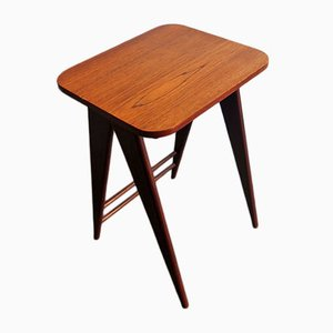 Mid-Century Mahogany and Teak Side Table, 1950s