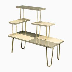 Deutscher Mid-Century Tisch aus Messing & Acryl, 1950er