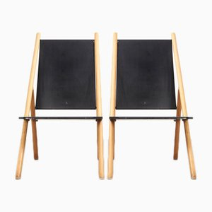 Minimalist Lounge Chairs by Yrjo Wiherheimo & Rudi Metz for Korkeakosko, 1970s, Set of 2