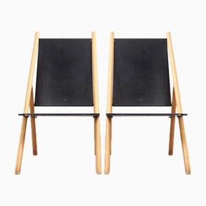 Minimalist Lounge Chairs by Yrjo Wiherheimo & Rudi Metz for Korkeakosko, 1970s, Set of 2