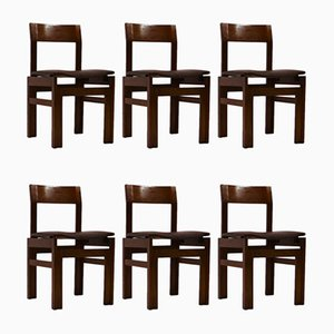 Rosewood Dining Chairs from Van den Berghe Pauvers, 1960s, Set of 6