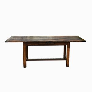 Antique French Oak Refectory Table, 1860s