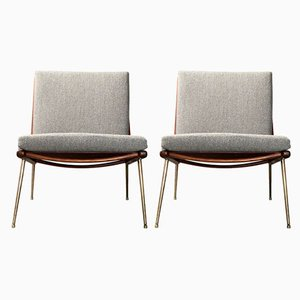 Scandinavian Modern Model 133 Lounge Chairs by Finn Juhl for France & Søn, 1950s, Set of 2