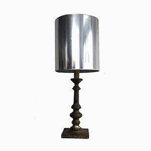 Vintage Silver Plated Table Lamp, 1960s