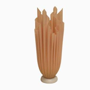 Lampada da tavolo a forma di alabastro in alabastro e resina epossidica di Georgia Jacob, Francia, anni '70
