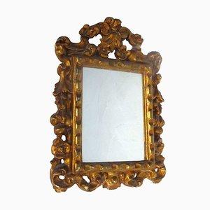 Espejo estilo barroco vintage dorado, años 30