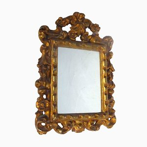 Vintage Baroque Style Golden Mirror, 1930s