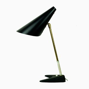 Tischlampe aus Messing & Eisen von J.T. Kalmar für Kalmar, 1950er