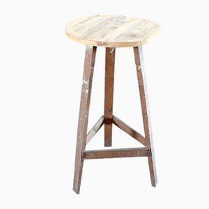 Antique Industrial Fir Side Table