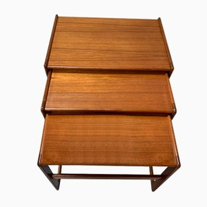 Tavolini ad incastro vintage in teak di G-Plan, anni '70
