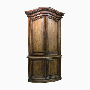 Mid-Century French Walnut Louis Philippe Style Pegged Cabinet, 1950s