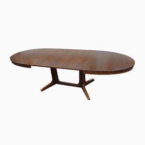 French Mahogany Extendable Dining Table by Joamin Baumann for Baumann, 1960s